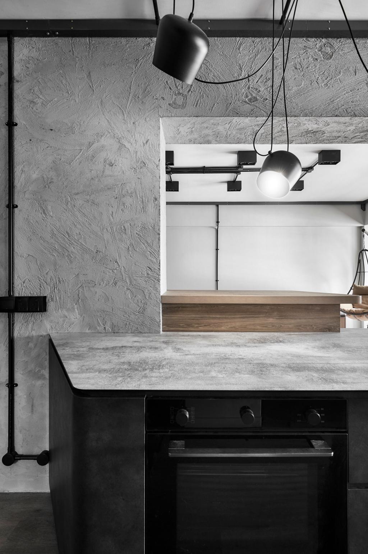 Industrial, HDB, Kitchen, Corporation Drive, Interior Designer, Notion of W, Contemporary