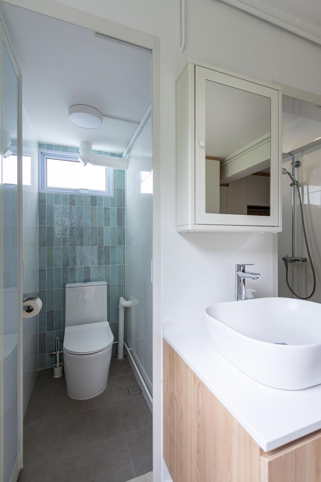 Scandinavian, HDB, Bathroom, Telok Blangah Rise, Interior Designer, Fineline Design