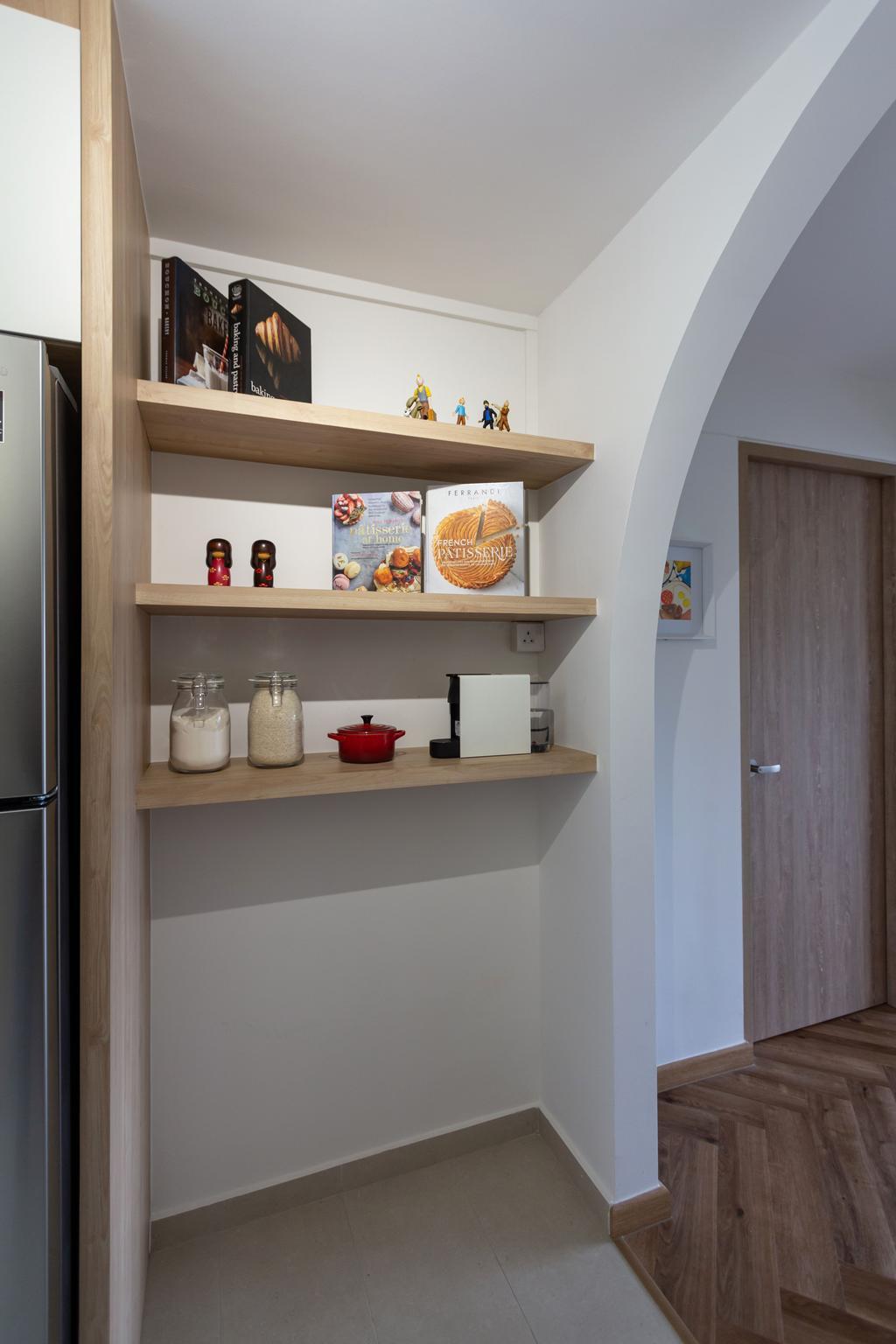 Scandinavian, HDB, Kitchen, Telok Blangah Rise, Interior Designer, Fineline Design