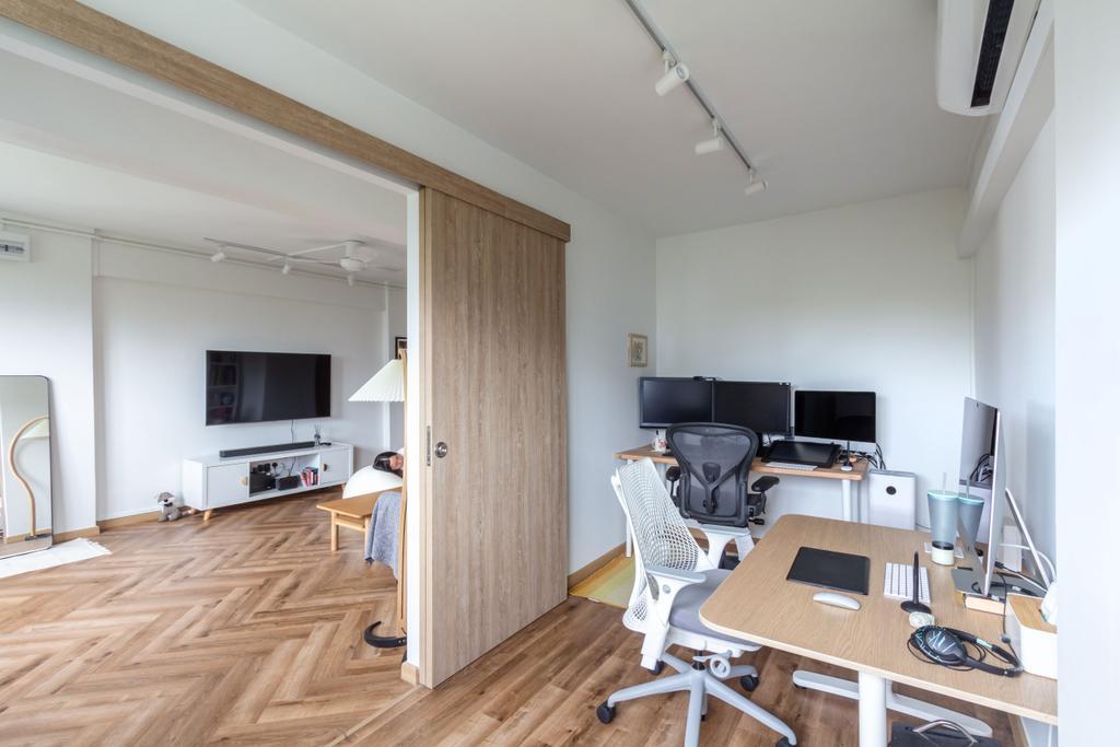 Scandinavian, HDB, Study, Telok Blangah Rise, Interior Designer, Fineline Design