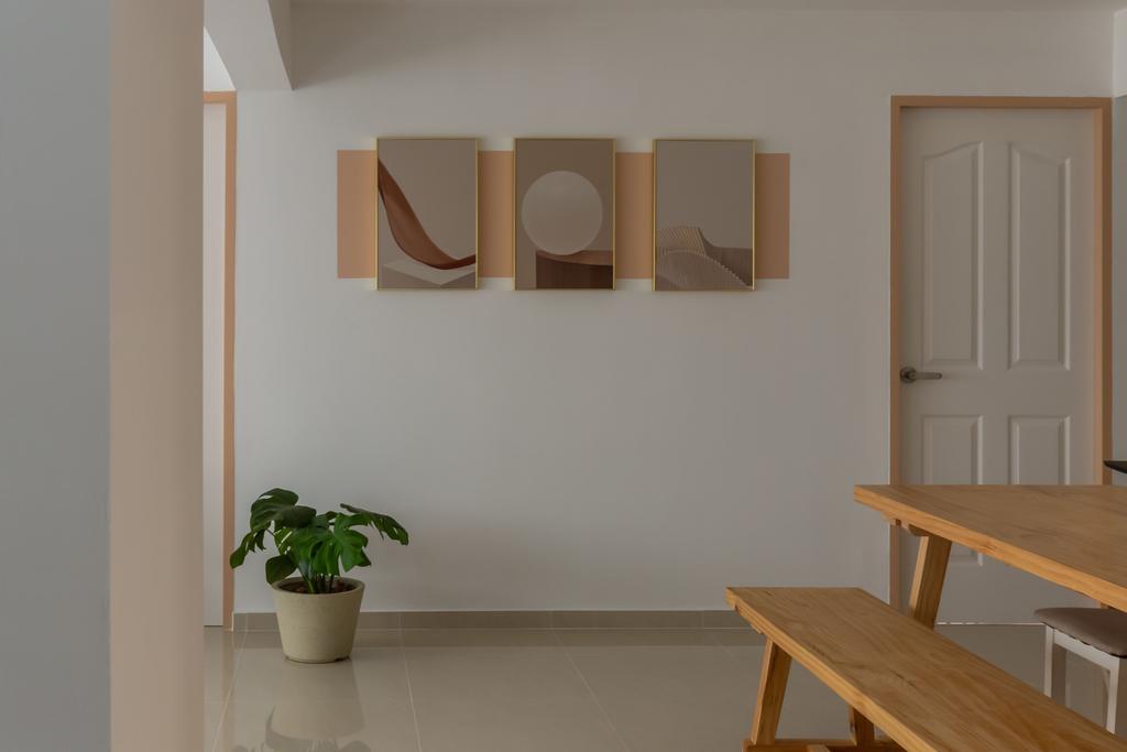 Scandinavian, HDB, Dining Room, Petir Road, Interior Designer, Apartment