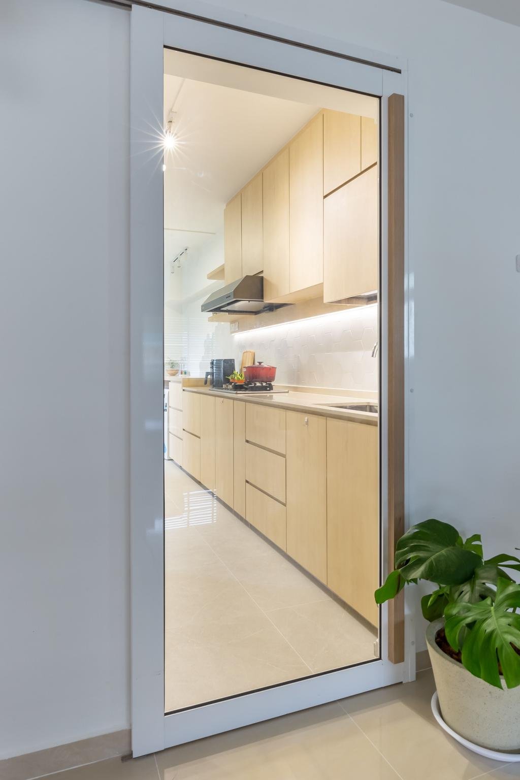 Scandinavian, HDB, Kitchen, Petir Road, Interior Designer, Apartment