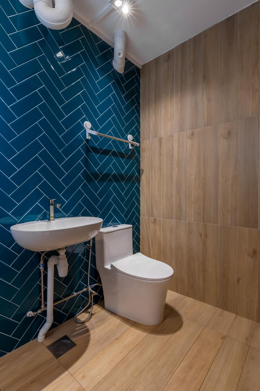 Scandinavian, HDB, Bathroom, Petir Road, Interior Designer, Apartment