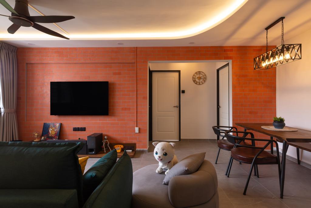 Contemporary, HDB, Living Room, Jurong West Street 42, Interior Designer, Apartment