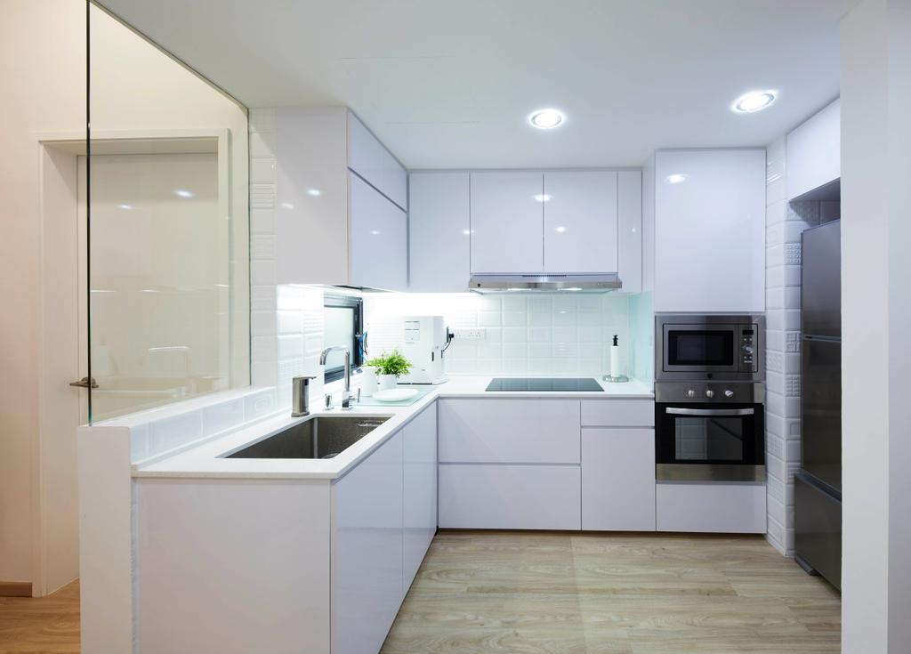 Minimalist, Condo, Kitchen, River Place, Interior Designer, PRDT Interiors, Contemporary