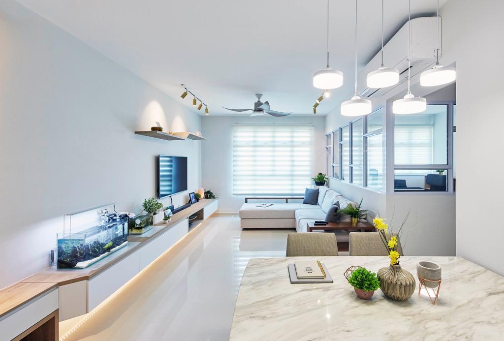 Contemporary, HDB, Dining Room, Henderson Road, Interior Designer, PRDT Interiors