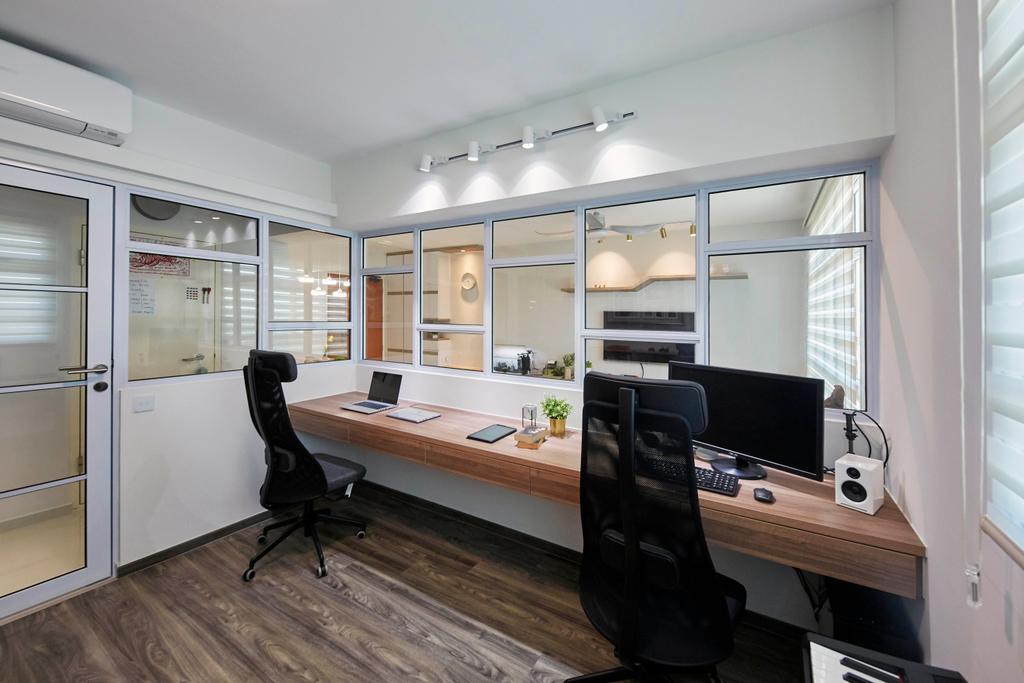 Contemporary, HDB, Study, Henderson Road, Interior Designer, PRDT Interiors