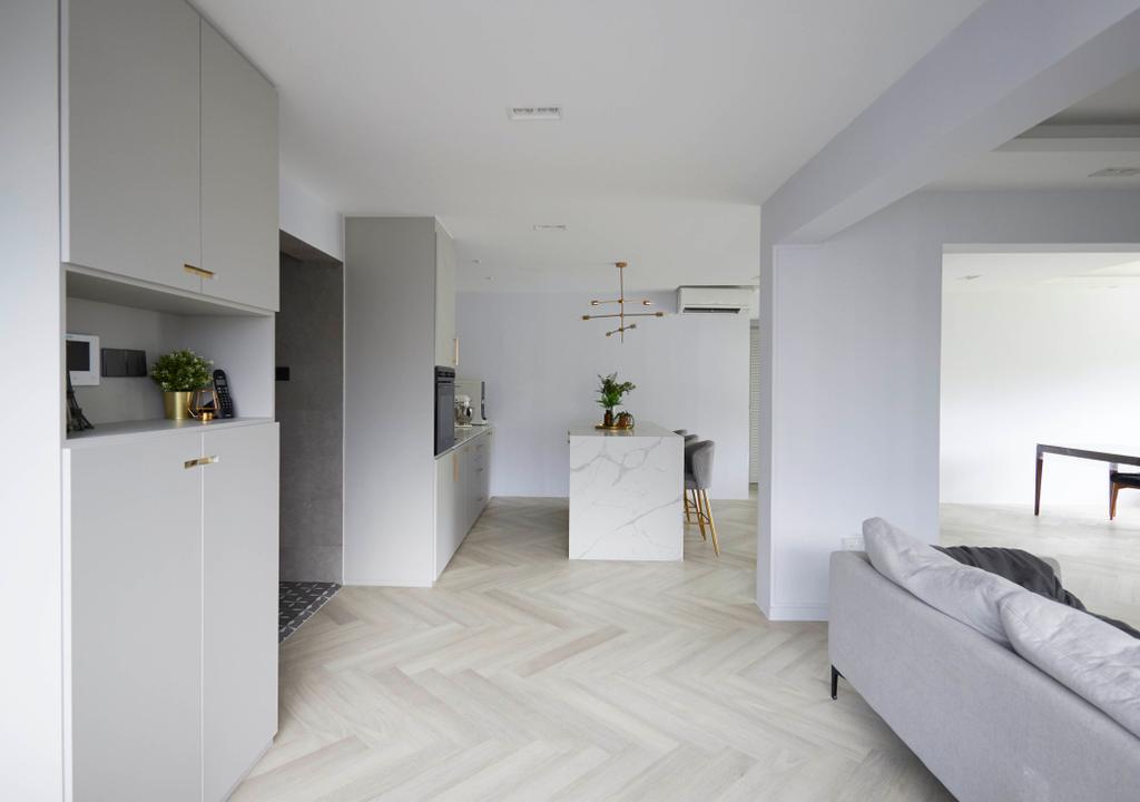 Contemporary, HDB, Living Room, Yishun Avenue 11, Interior Designer, PRDT Interiors