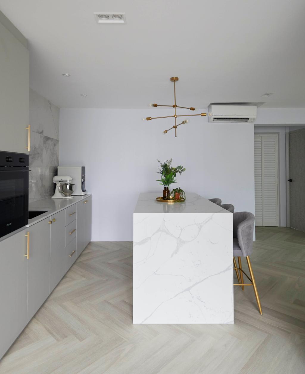Contemporary, HDB, Dining Room, Yishun Avenue 11, Interior Designer, PRDT Interiors