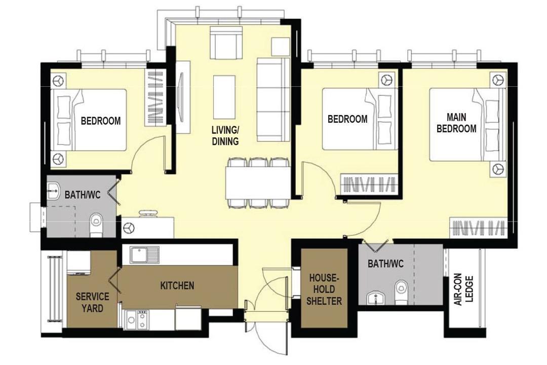 unique layout ideas for HDB flats