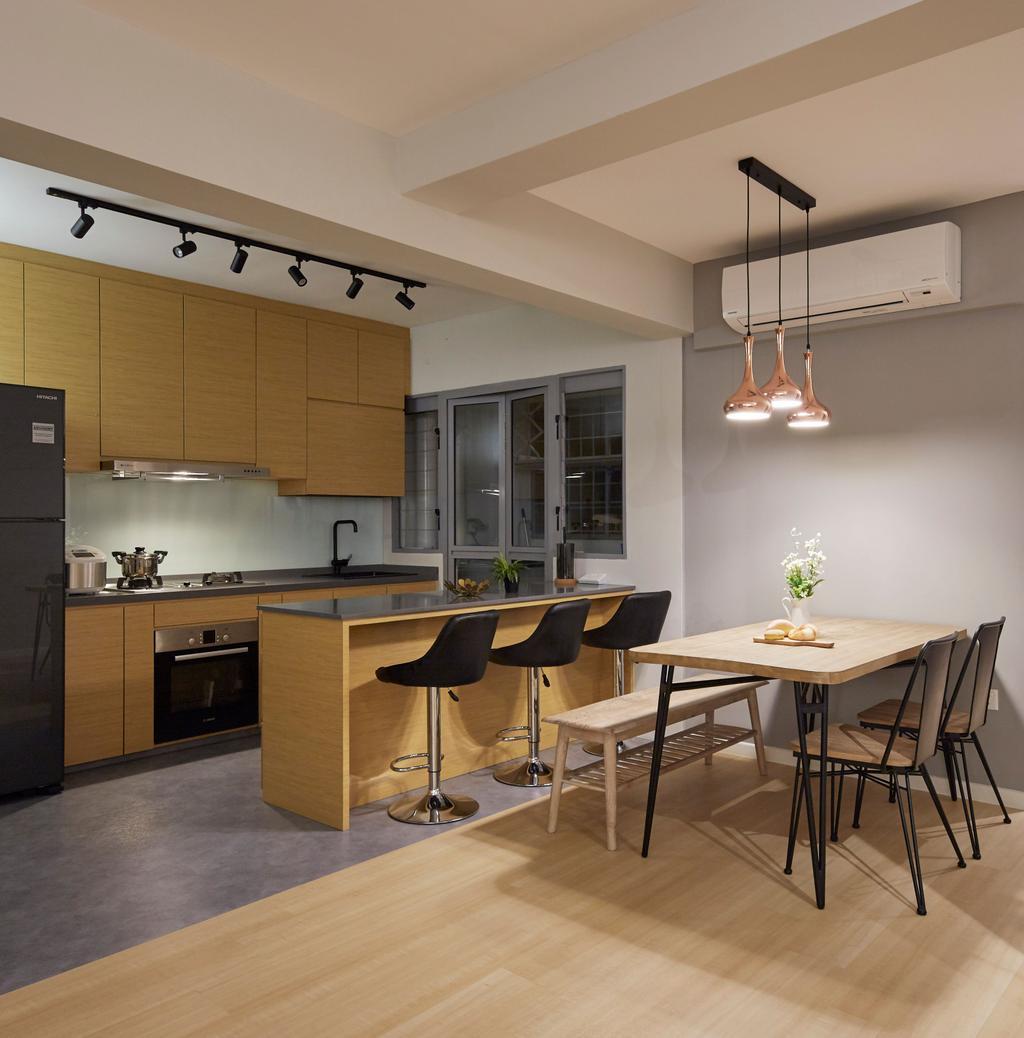 Scandinavian, HDB, Kitchen, Edgedale Plains, Interior Designer, PRDT Interiors, Contemporary