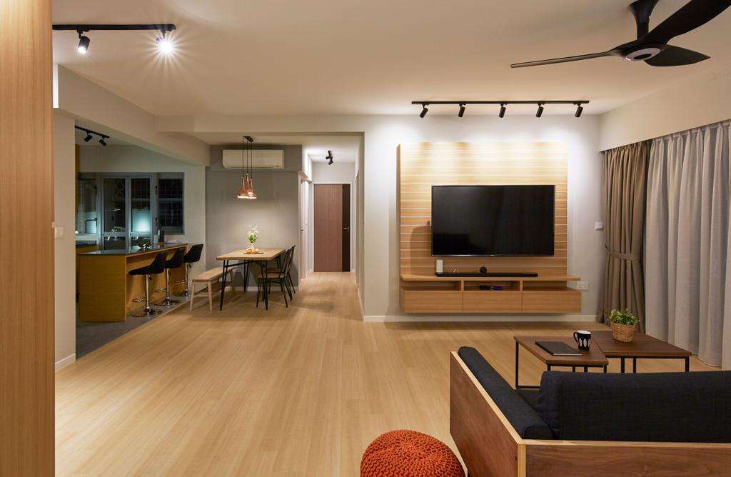 Scandinavian, HDB, Living Room, Edgedale Plains, Interior Designer, PRDT Interiors, Contemporary