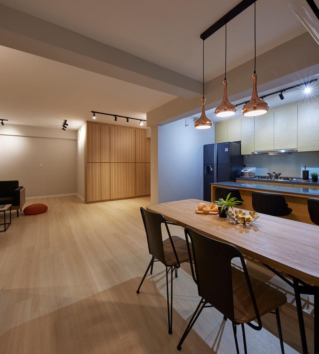 Scandinavian, HDB, Dining Room, Edgedale Plains, Interior Designer, PRDT Interiors, Contemporary