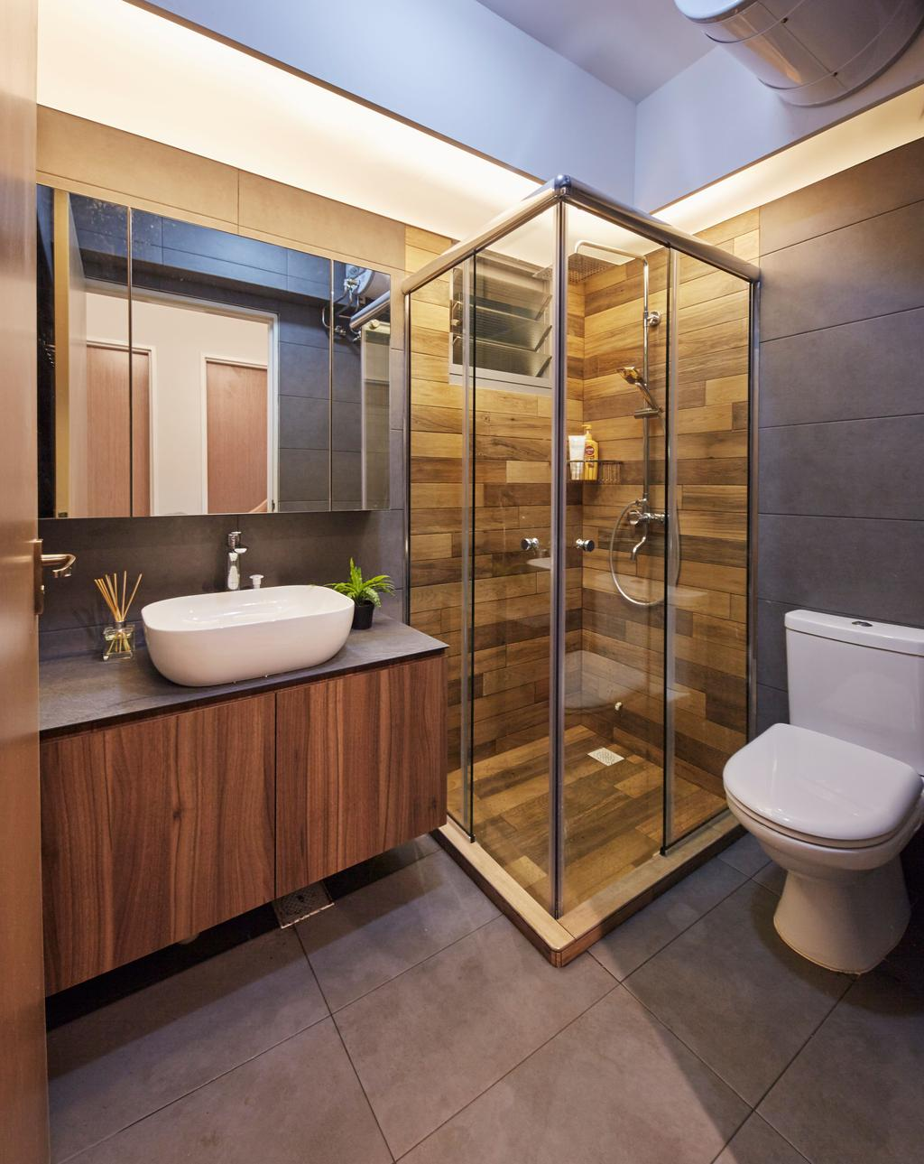 Scandinavian, HDB, Bathroom, Edgedale Plains, Interior Designer, PRDT Interiors, Contemporary
