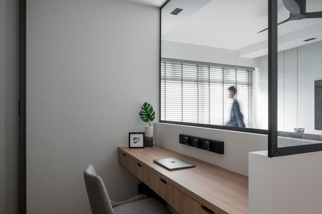 Contemporary, HDB, Study, Sengkang West Way, Interior Designer, Fifth Avenue Interior