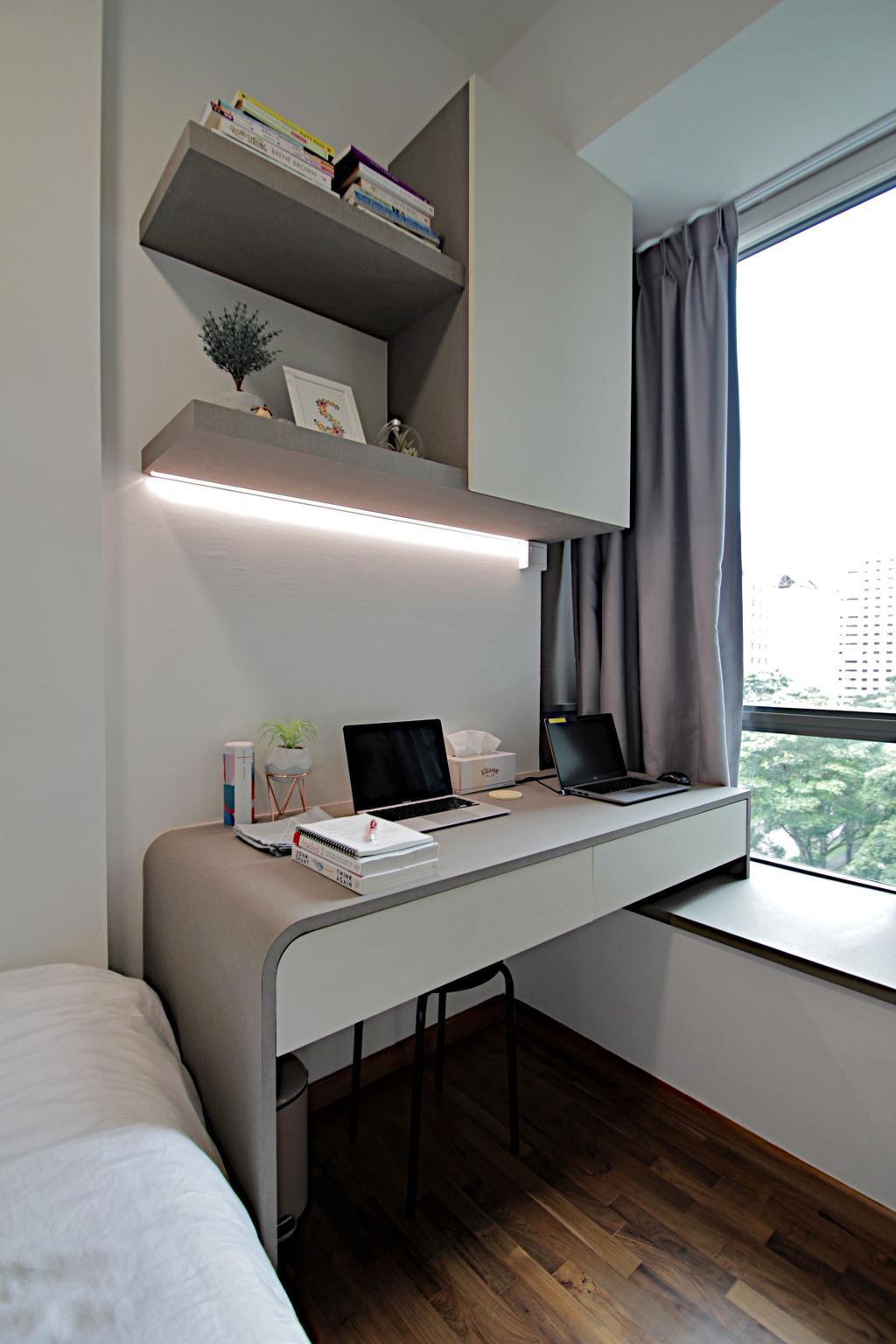 Modern, Condo, Study, The Quintet, Interior Designer, Mesh Room Design