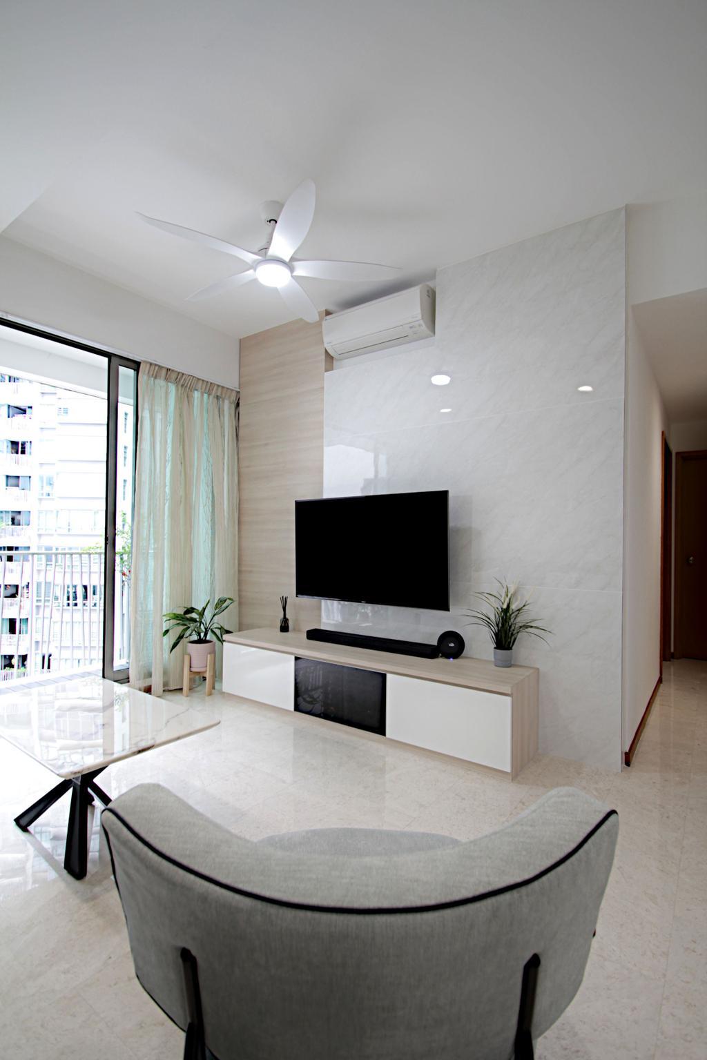 Modern, Condo, Living Room, The Quintet, Interior Designer, Mesh Room Design