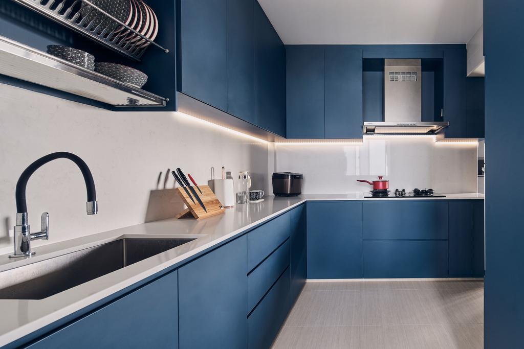 Modern, HDB, Kitchen, Clementi Avenue 3, Interior Designer, Charlotte's Carpentry, Minimalist