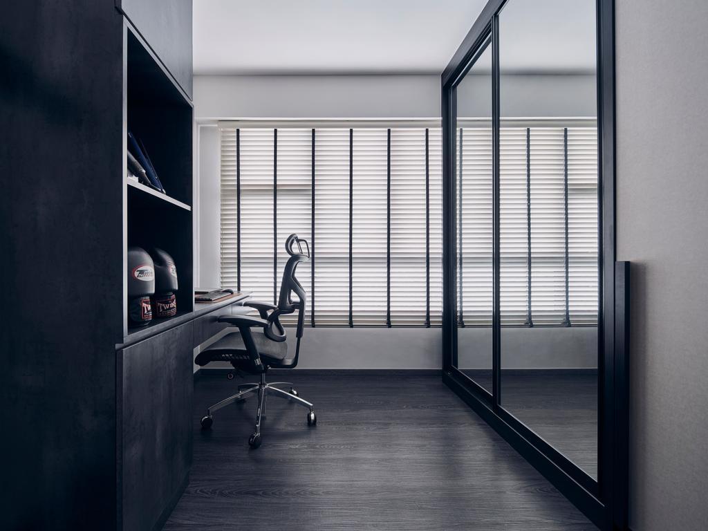 Modern, HDB, Study, Clementi Avenue 3, Interior Designer, Charlotte's Carpentry, Minimalist