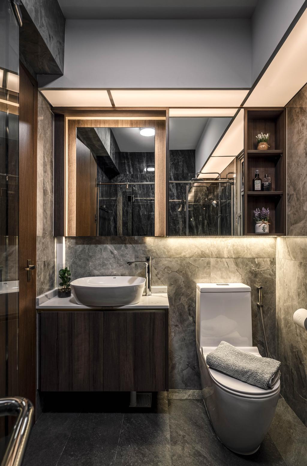 Contemporary, HDB, Bathroom, Tampines Avenue 8, Interior Designer, Weiken.com