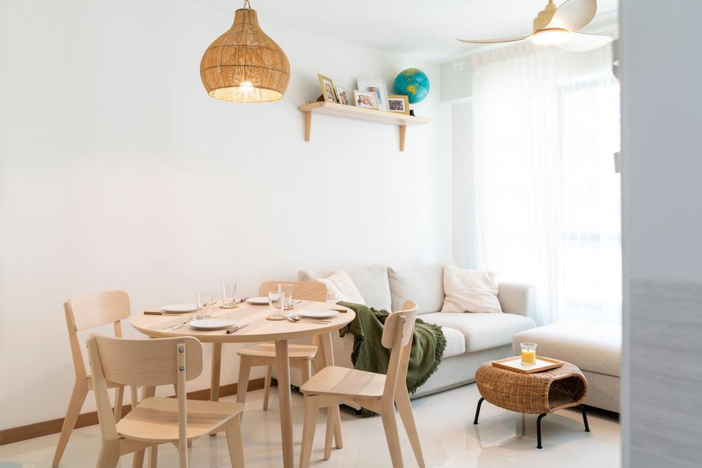 Scandinavian, HDB, Living Room, Bedok North Road, Interior Designer, R Interior | R 设计团队