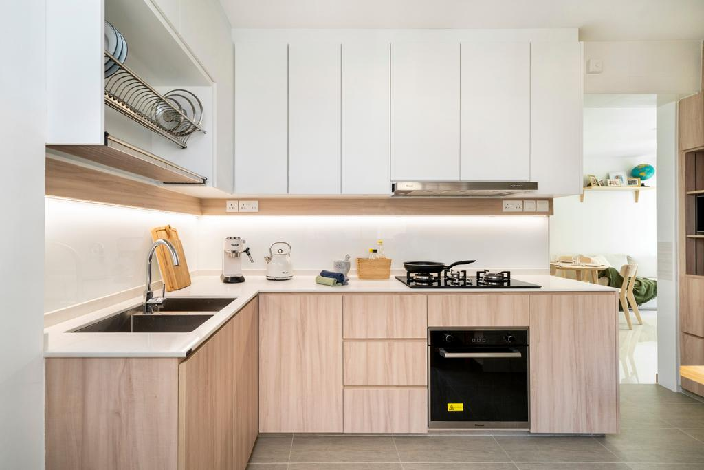 Scandinavian, HDB, Kitchen, Bedok North Road, Interior Designer, R Interior | R 设计团队