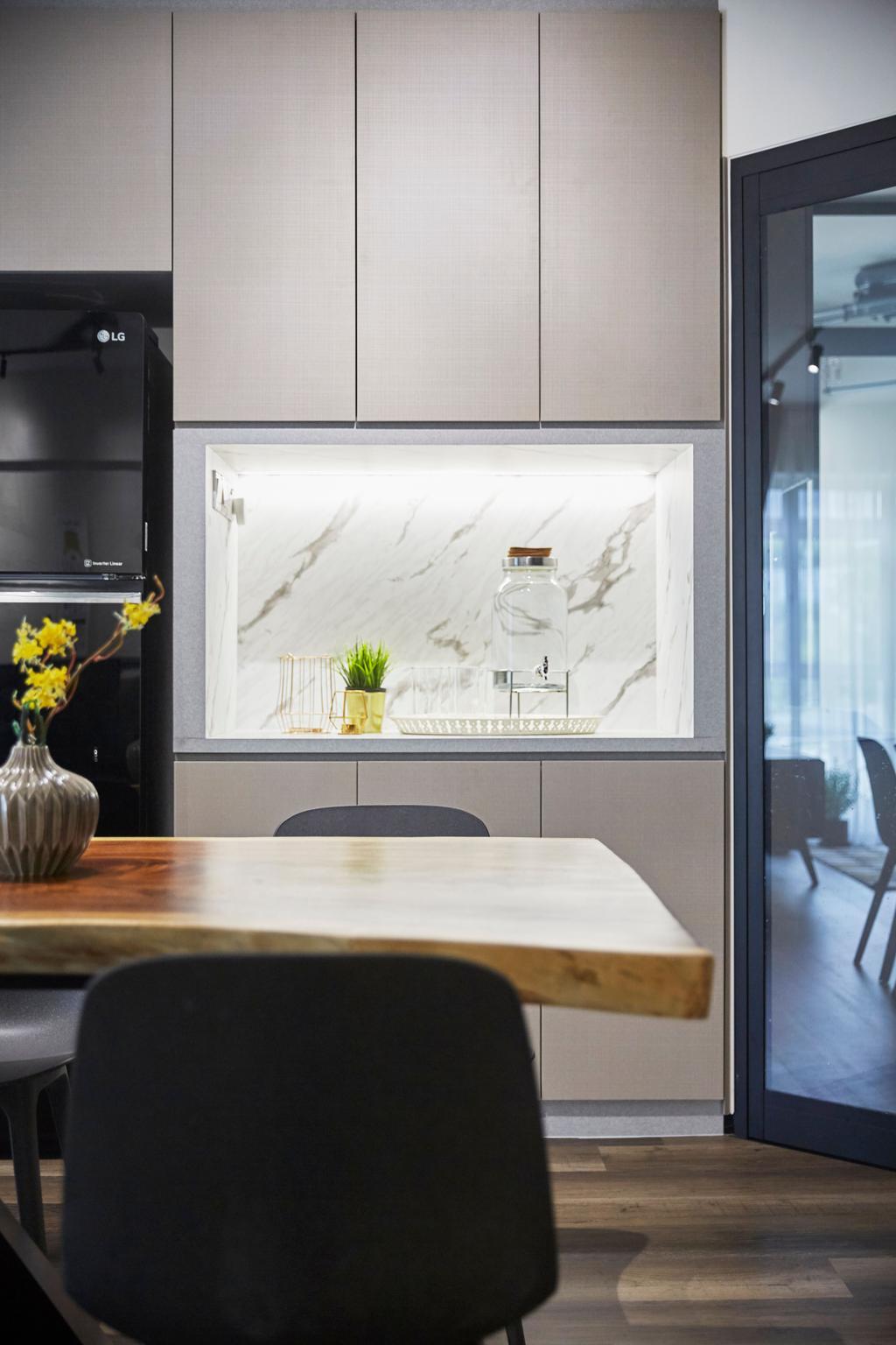 Contemporary, HDB, Dining Room, Bukit Panjang Road, Interior Designer, Ultra Space Design