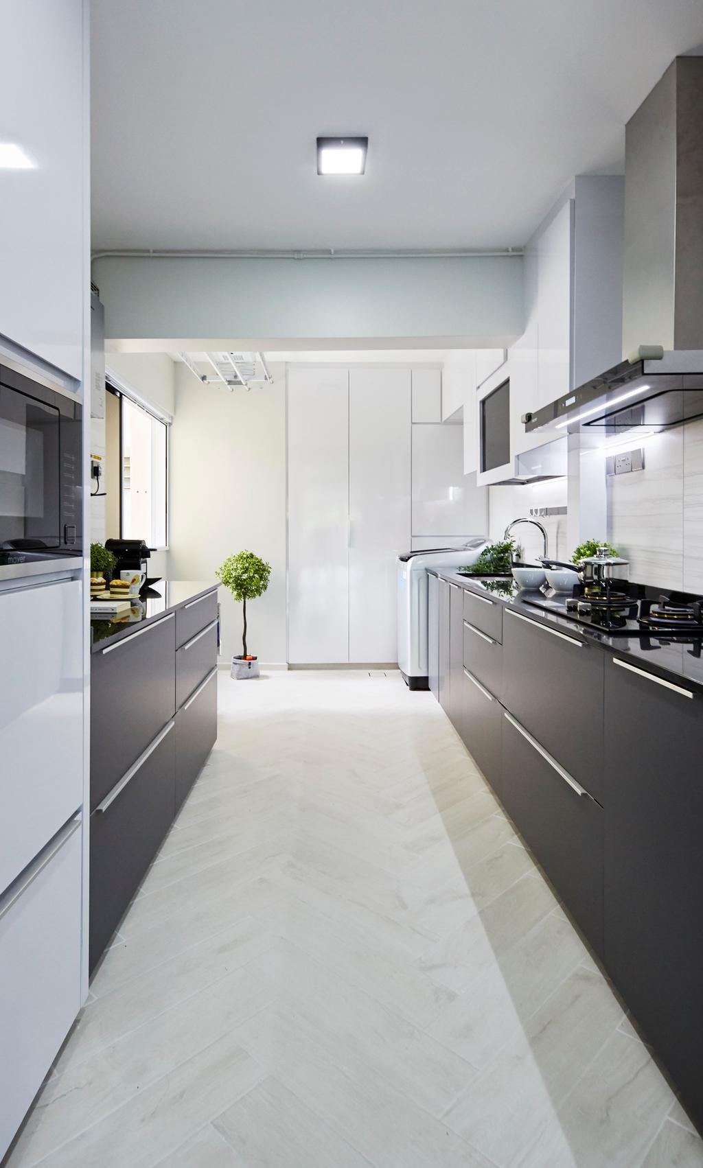 Minimalist, HDB, Kitchen, Bukit Merah Central, Interior Designer, Ultra Space Design, Contemporary