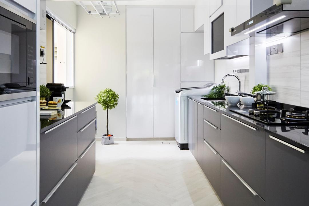 Bukit Merah Central, Ultra Space Design, Minimalistic, Contemporary, Kitchen, HDB