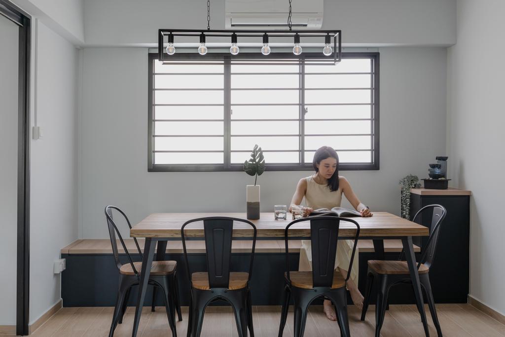 Contemporary, HDB, Dining Room, Serangoon Avenue 2, Interior Designer, Fifth Avenue Interior