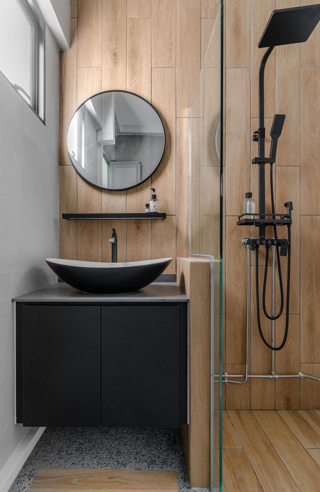 Contemporary, HDB, Bathroom, Serangoon Avenue 2, Interior Designer, Fifth Avenue Interior