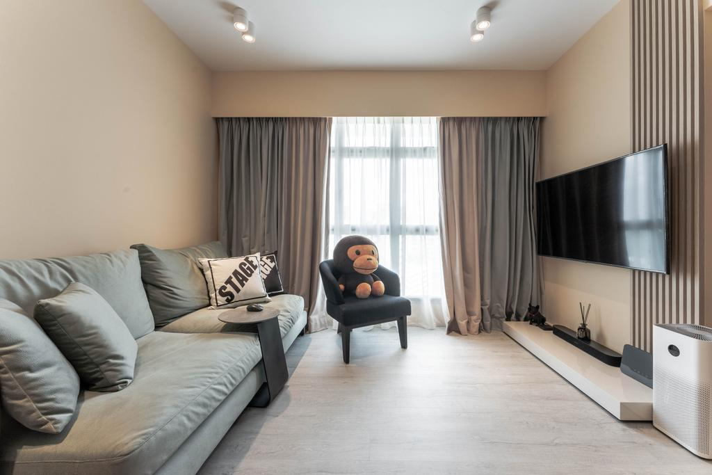 Modern, HDB, Living Room, Northshore Drive, Interior Designer, Builders Plus, Contemporary