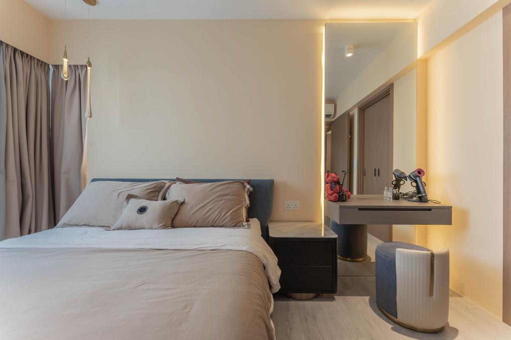 Modern, HDB, Bedroom, Northshore Drive, Interior Designer, Builders Plus, Contemporary