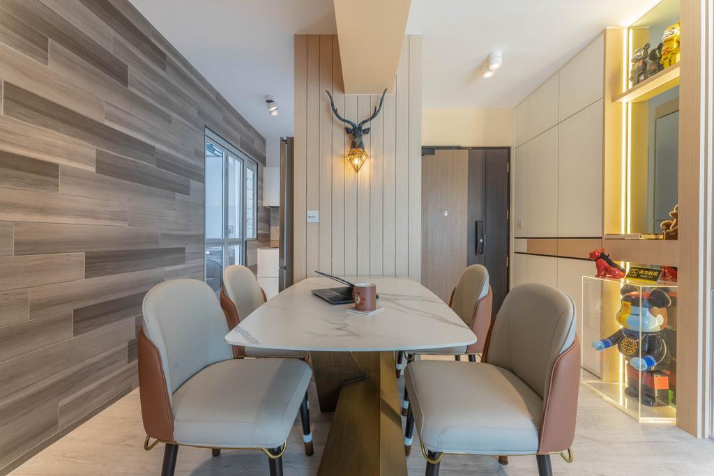 Modern, HDB, Dining Room, Northshore Drive, Interior Designer, Builders Plus, Contemporary