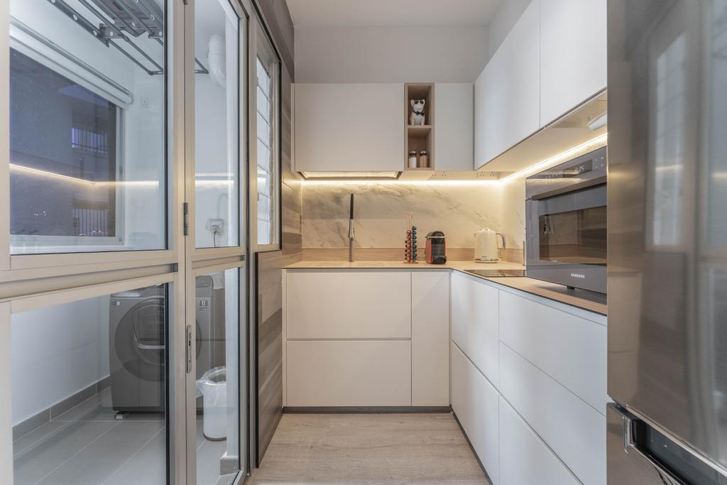 Modern, HDB, Kitchen, Northshore Drive, Interior Designer, Builders Plus, Contemporary