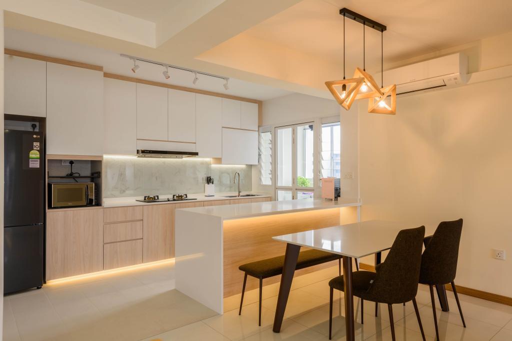 Contemporary, HDB, Kitchen, Tampines Street 61, Interior Designer, Interior Times