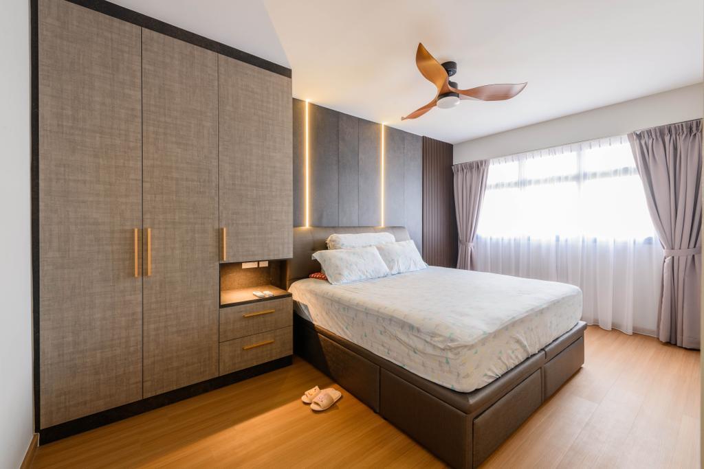 Contemporary, HDB, Bedroom, Tampines Street 61, Interior Designer, Interior Times