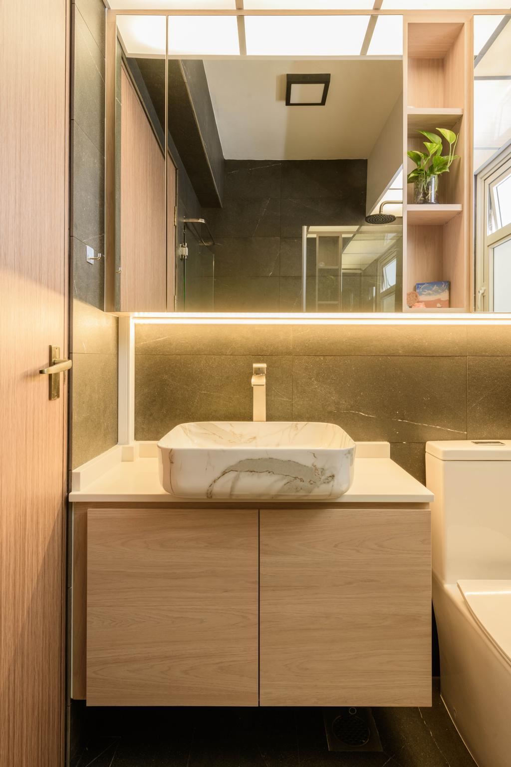 Contemporary, HDB, Bathroom, Tampines Street 61, Interior Designer, Interior Times