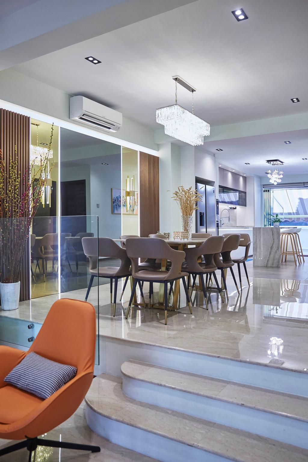 Transitional, Landed, Dining Room, Villa Verde, Interior Designer, i-Chapter