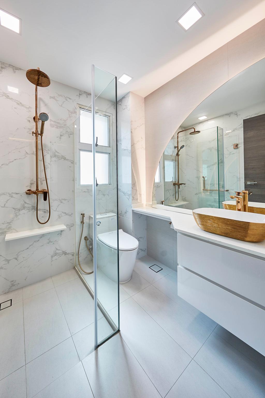 Transitional, Landed, Bathroom, Villa Verde, Interior Designer, i-Chapter