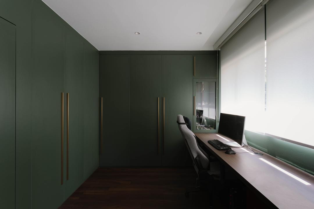 Redhill Lane, ChengYi Interior Design, Modern, Contemporary, Study, HDB