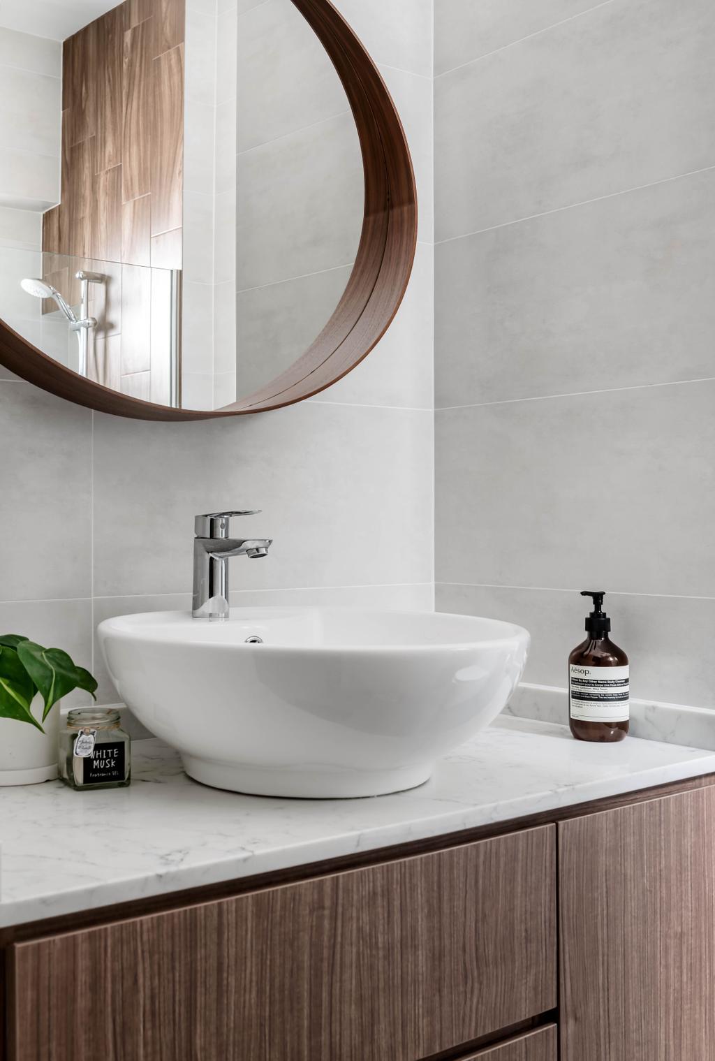 Scandinavian, HDB, Bathroom, Punggol Field, Interior Designer, Zenith Arc, Contemporary