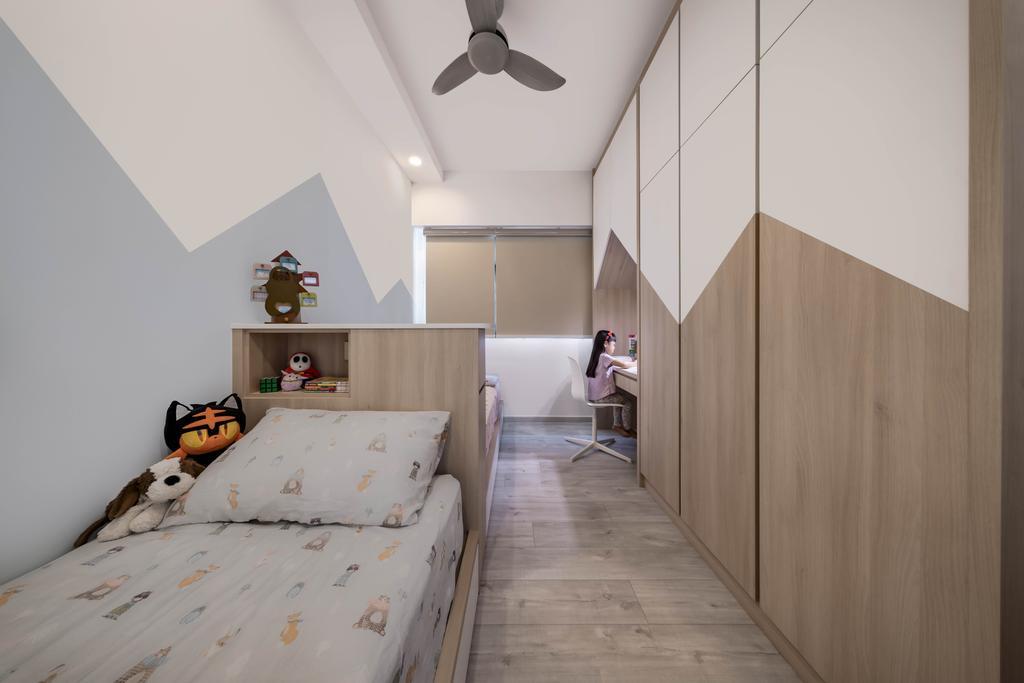 Scandinavian, HDB, Bedroom, Punggol Field, Interior Designer, Zenith Arc, Contemporary