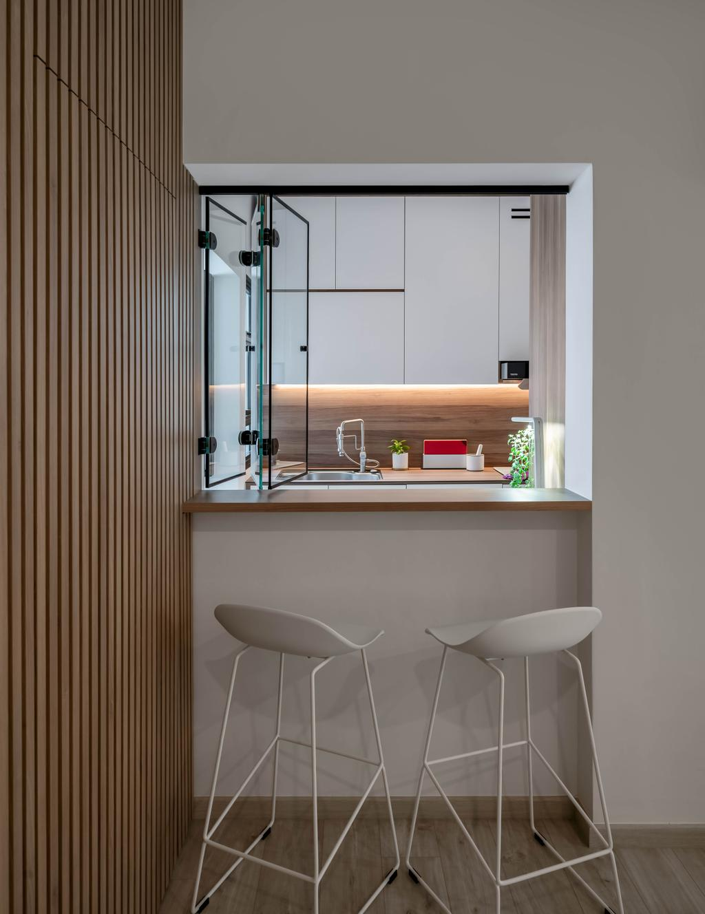 Scandinavian, HDB, Kitchen, Punggol Field, Interior Designer, Zenith Arc, Contemporary