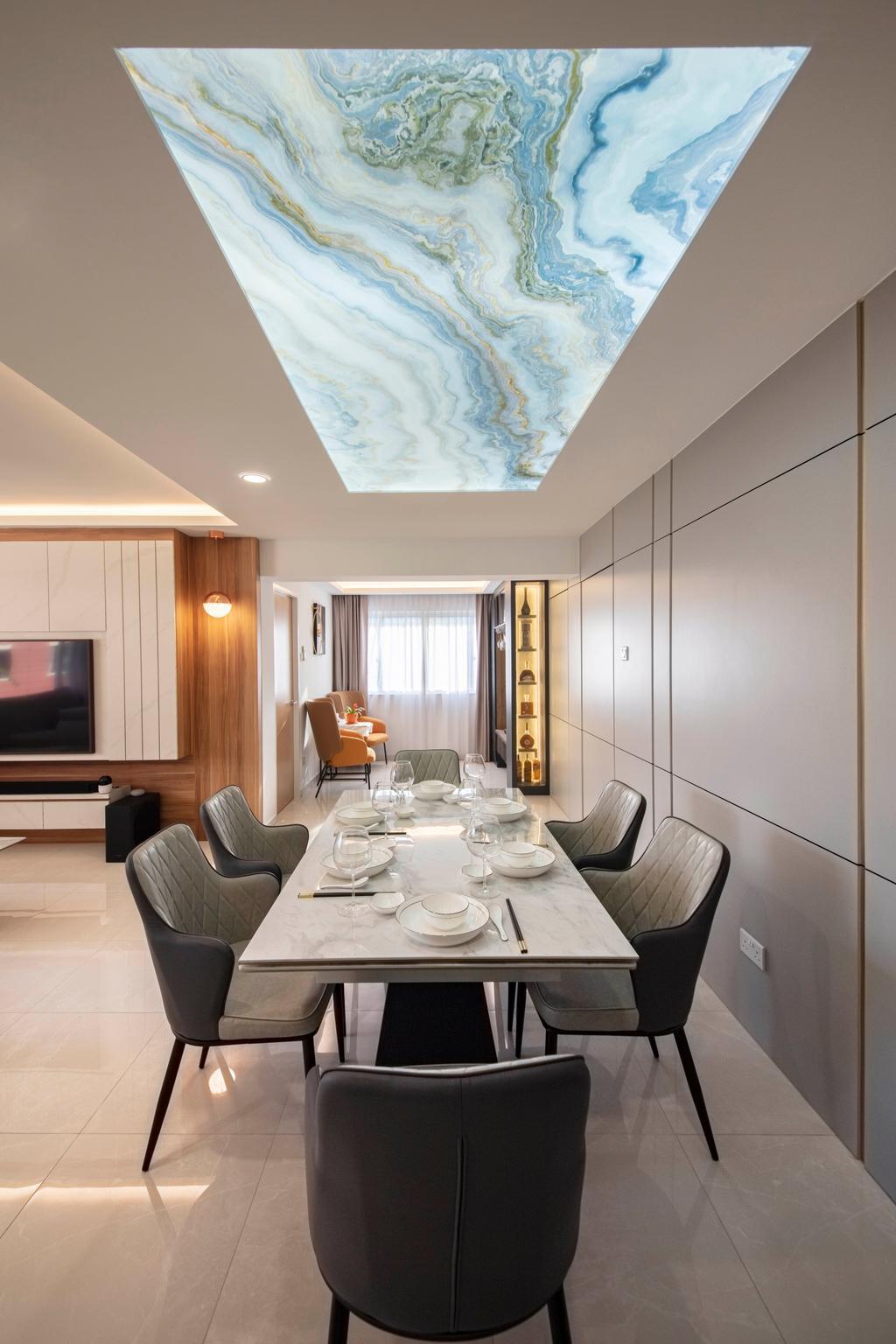 Contemporary, HDB, Dining Room, Bedok South Avenue 2, Interior Designer, ECasa Studio
