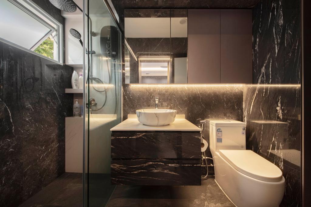 Contemporary, HDB, Bathroom, Bedok South Avenue 2, Interior Designer, ECasa Studio