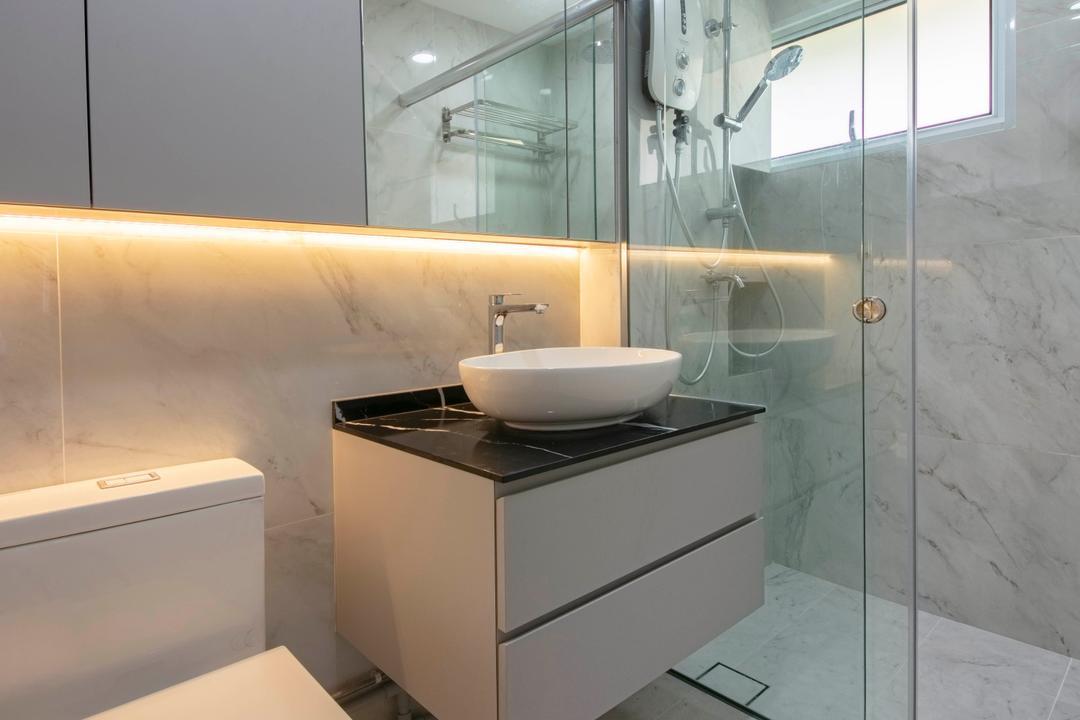Bedok South Avenue 2, ECasa Studio, Contemporary, Bathroom, HDB
