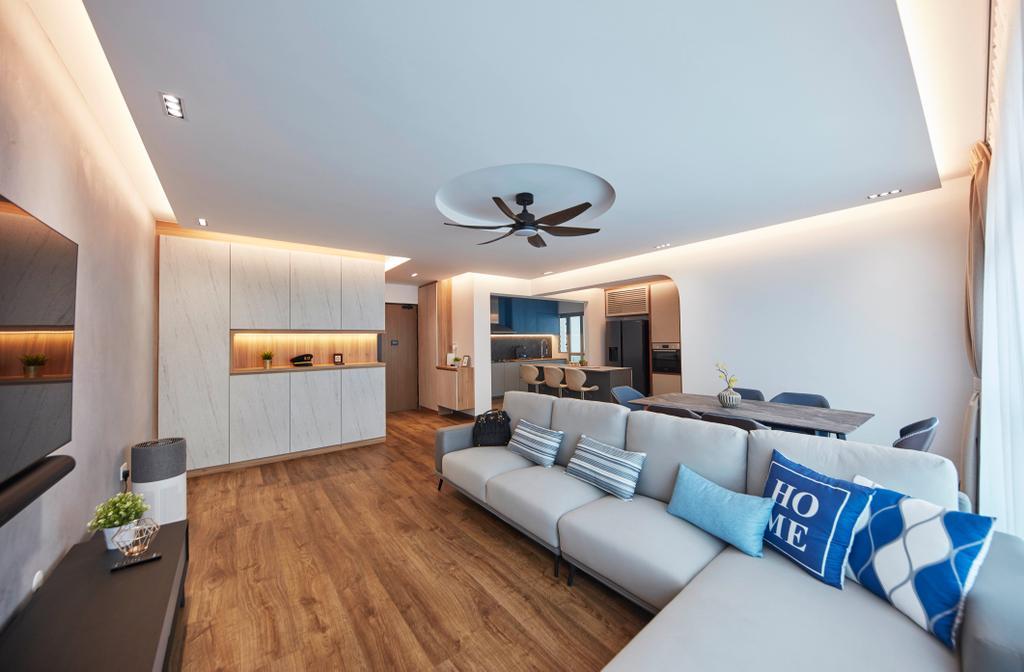 Scandinavian, HDB, Living Room, Northshore Drive, Interior Designer, Ultra Space Design, Contemporary