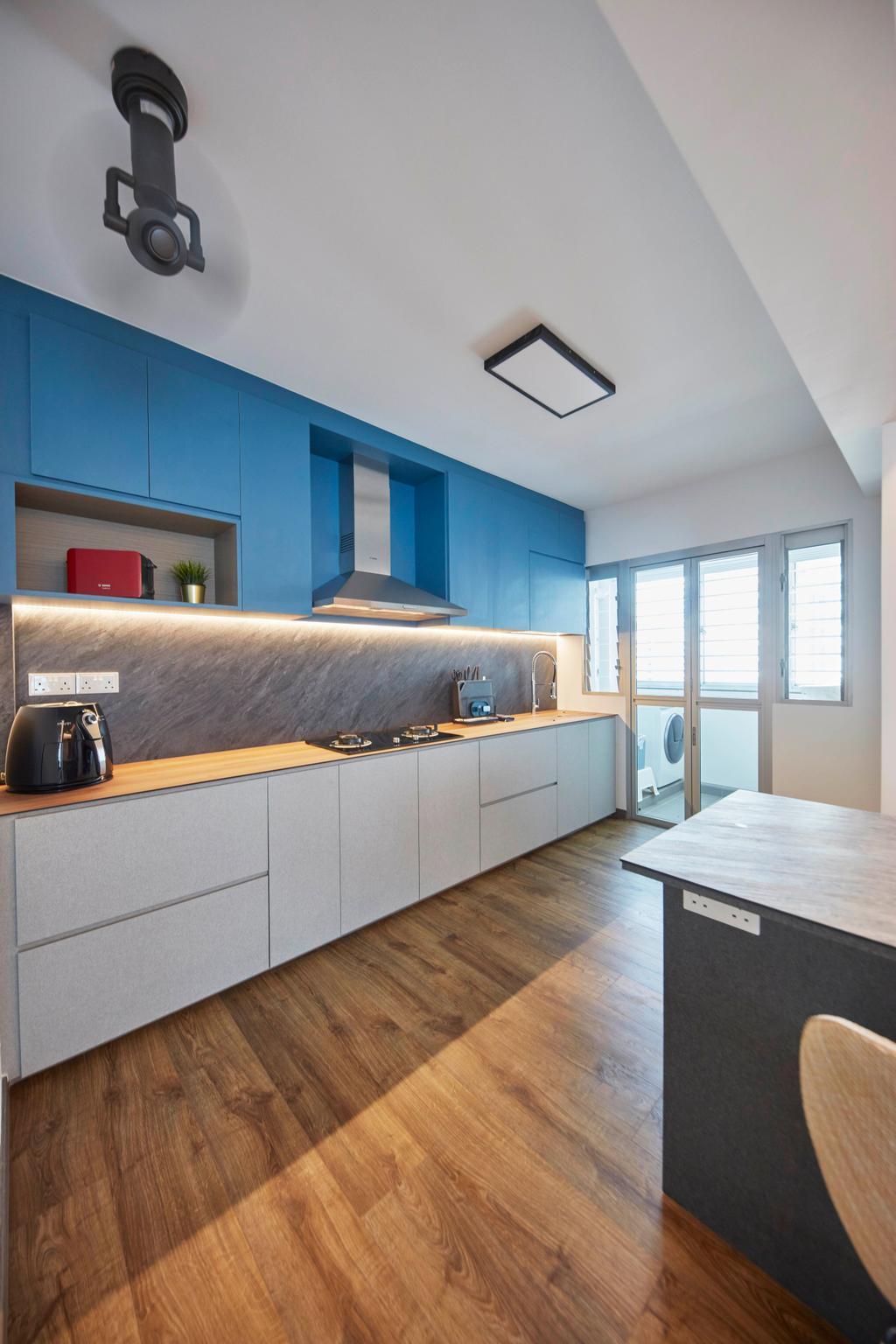 Scandinavian, HDB, Kitchen, Northshore Drive, Interior Designer, Ultra Space Design, Contemporary