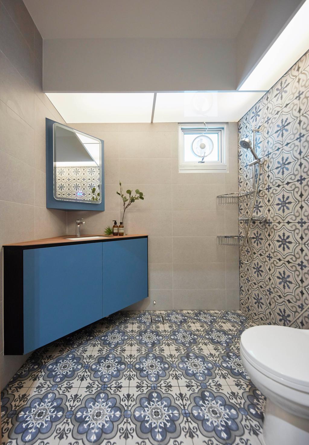 Scandinavian, HDB, Bathroom, Northshore Drive, Interior Designer, Ultra Space Design, Contemporary